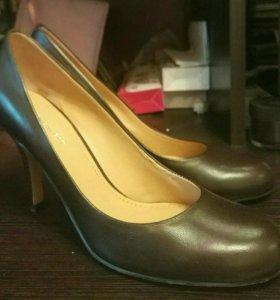 Новые кожаные туфли nine west 38