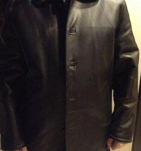 мужское пальто из натуральной кожи (двухстороннее)