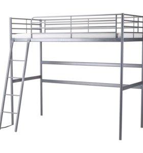 Кровать СВЭРТА с матрасом + столешница