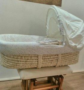 Люлька для малыша плетеная