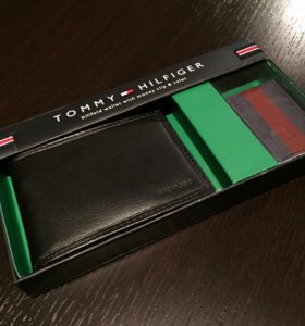 Комплект Бумажник+зажим Tommy Hilfiger оригинал