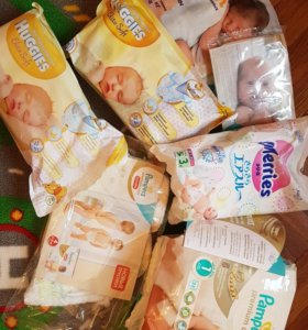 Подгузники от newborn до 4 размера