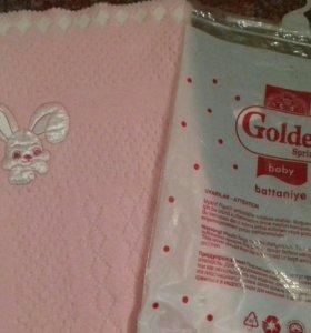 Одеяло плед детский для новорожденных