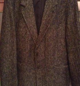 пиджак цвет меланж в хорошем состоянии