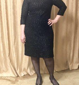 Новое Платье трикотажное с люрексом 52 размер