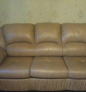 Кожаный диван с доставкой. Б/у