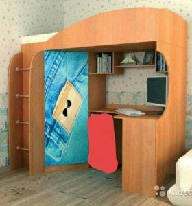 Мебельная Стенка(Кровать+Шкаф+Компьютерный Стол)