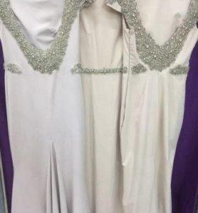 Бежевое платье Tarik Ediz