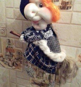 Интерьерная кукла Яга