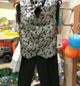 Костюм для мальчика. Жилетка+бабочка+брюки