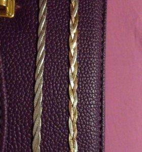 2 браслета (серебро и серебро с золотом)