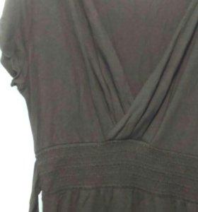 Чёрное платье L