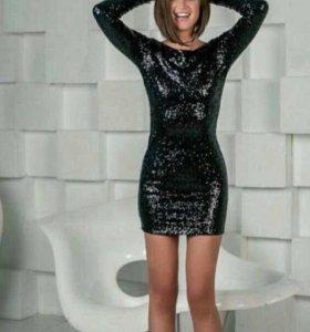 Платье с пайетками новые
