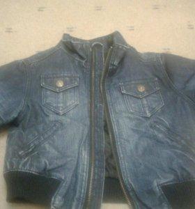Детская утепленная джинсовая куртка