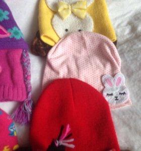 Интересные шапочки на девочек от года до 6.