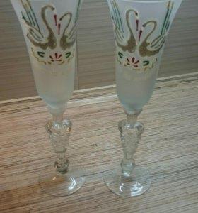 Свадебные фужеры. Бокалы для шампанского