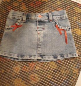 Детская джинсовая юбка р92-98