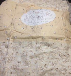 Продам комплект в кроватку для новорожденных