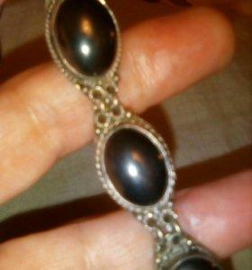 Серебряный браслет и кольцо 925пробы