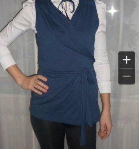 Блуза с накидкой