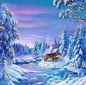 Картина по номерам - Зима