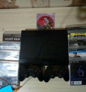 PlayStation 3 + 10 дисков