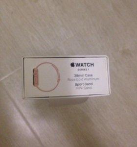 Часы Apple Watch series 1 rose gold