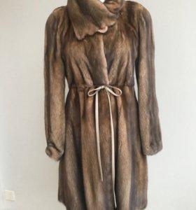 Норковая шуба-платье