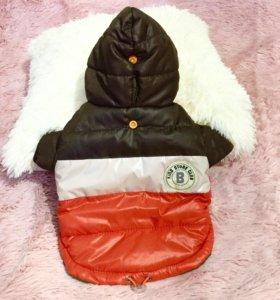Двухсторонняя куртка на синтепоне для собаки