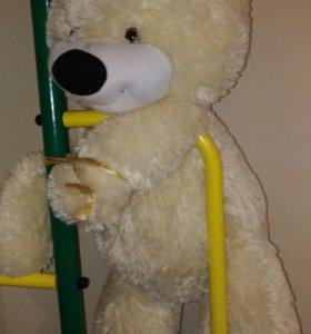 Большой медведь +подушка-улитка в подарок!🤡