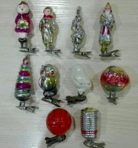 Продаю ёлочные игрушки 1960 г.в на прищепках.