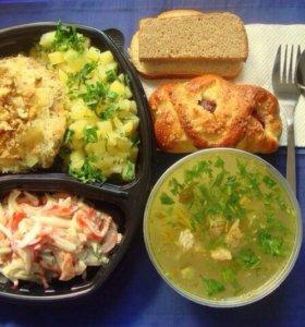 комплексные обеды, ужины,холодец,салаты