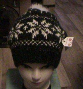 шапка женская с орнаментом