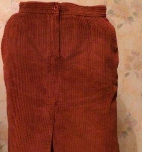 Вельветовая юбка 44р