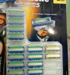 Gillette Fusion proglide 12шт.+proshield 2 шт..