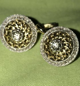 Шикарные Серьги с бриллиантами. Заходите в пофиль