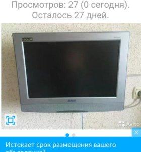 Жк телевизор ввк 54см со встроенным двд