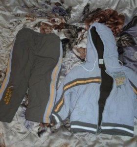 ветровка, комбинизон, Зим куртка + штаны на лямках