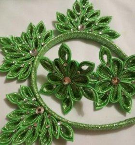 Новогодняя корона , резинки,елка