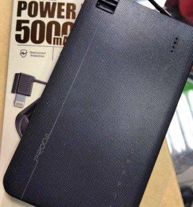 Внешний аккумулятор proda 5000mAh