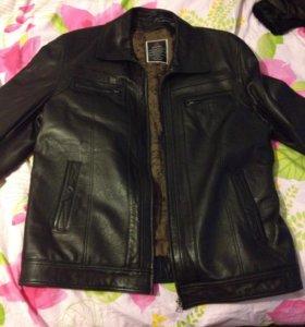 Кожаная куртка(зима) новая