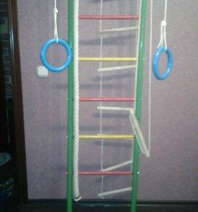 Детская лестница. Турник. Брусья. Канат