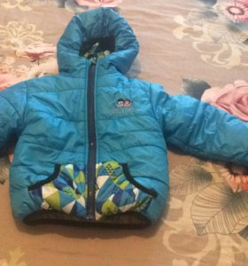 Курточка с комбинезоном и жилеткой
