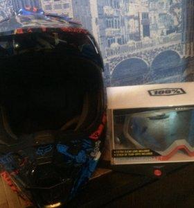 Fox special edition + racecraft mx goggle