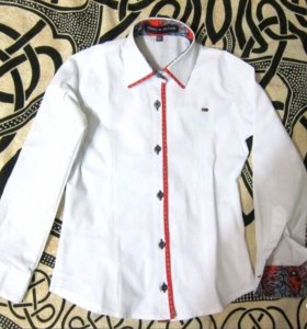 Блузка (рубашка школьн) Tommy Hilfiger (116-122см)
