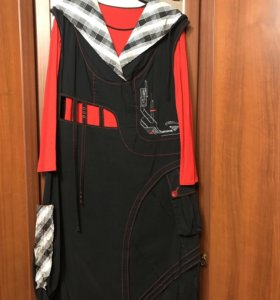 Стильное платье двойка- 50-52 размер