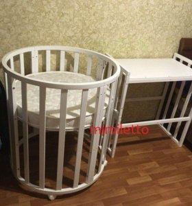 Оригинальная кроватка трансформер.