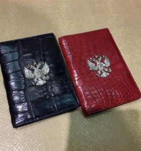 Обложка на паспорт кожа крокодила(авто документы)