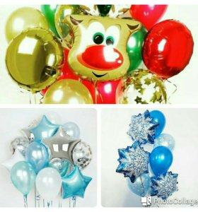 Воздушные шары, бабллс,фольгированные фигуры,цифры