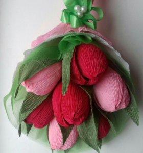 Букет из конфет. Тюльпаны.
